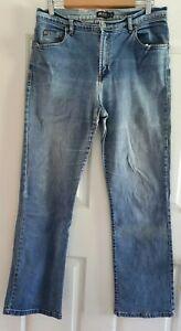 Ladies size 16 Blue Stretch Denim Bootleg Denim Jeans - JAG JEANS