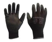 12 Pairs Warrior Black PU Coated Grip Work Gloves Gardening Size 6 XS Womens