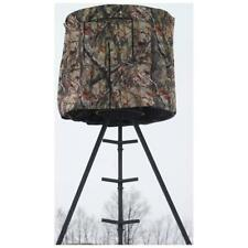 Tripod Deer Hunting Blind Condo Steel Frame Open Top Black Out Fabric 40 In H