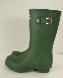 Hunter Original Kids Classic Rain Boots Green UK 12 - US 1 G /  13 B - EUR 31