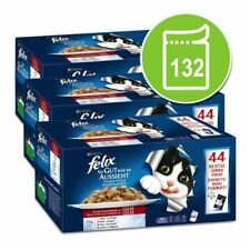 132 x 100g Felix As Good As It Looks- Meat Menus / Favourites Selection In Jelly