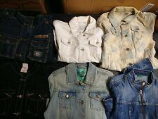 Bulk Clothing Lot: 6 Jacket Female Multi Vintage Denim Medium and Petite Sizes