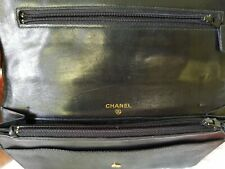 AUTHENTIC CHANEL Black Caviar Skin Wallet