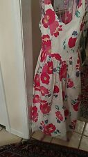 Laura Ashley vintage Wild summer Flowers.casusl size 8.made in great Britain.
