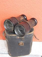 vintage JUMELLES CHEVALIER PARIS BINOCULARS CASE BOX Fernglas FRANCE ww2 Glasses