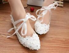 Decolté decolte scarpe donna ballerina bianco   perle sposa 3.5, 4.5 8 11 9345