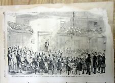 1861 illustrated Civil War newspaper w engraving & text Formation of Confederacy