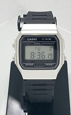 CASIO Casual F91W Classic Alarm Chronograph Model W/R F91WM-7 BLACK & SILVER