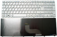Clavier Français AZERTY pour portable PACKARD BELL Easynote LM86 Blanc