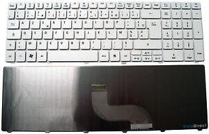 Clavier Français AZERTY pour ordinateur portable ACER Aspire 7736G Blanc