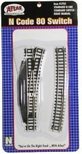 Atlas #2703 Right-Hand Manual Standard Switch Track - N Scale - Code 80 Rails