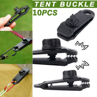 10Pcs Reusable Tent Tarp Tarpaulin Clips Clamp Buckle Camping Tools Heavy Duty-