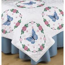 TOBIN Premium QUILT BLOCKS 6pc for Stamped Cross Stitch Embroidery BUTTERFLY