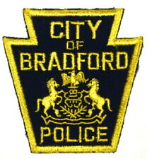 BRADFORD PENNSYLVANIA PA Sheriff Police Patch KEYSTONE VINTAGE OLD MESH ~