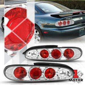 Chrome/Red *EURO ALTEZZA* Tail Light Brake Reverse Lamp for 93-97 Mazda MX-6 MX6