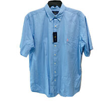 $99 Polo Ralph Lauren Men's Feather Weight Twill Shirt 2XLB 2XB Blue S/S Classic