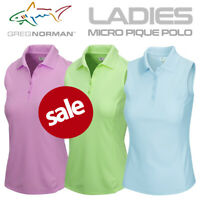 Greg Norman Ladies Micro Pique Sleeveless Golf Polo Shirt - NEW! 2021 *REDUCED*