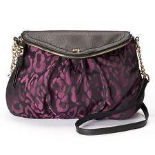 JUICY COUTURE $79 NWT  cross body rose grape leopard women's purse traveler