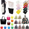 Women Men Handbag Canvas Tote Casual Reusable Large Shopping Bag Satchel Pouch