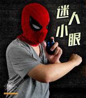 1:1 Movie Spiderman Helmet Wearable ABS Mask Remote Control Eyes Cosplay Props