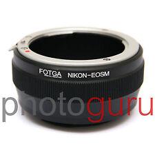Anello adattatore per obiettivi NIKON F AI AI-S su fotocamere CANON EOS-M EOSM