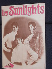 LES SUNLIGHTS 60s 70s DISQUES AZ RARE AFFICHE FRENCH POSTER ORIGINAL