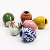 Cute Vintage Vase Jar 25mm Dollhouse Miniature Ceramic Food Supply Deco A1128