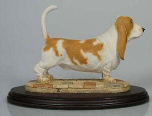 basset hound dog figur hund Naturecraft hundefigur dogge alabaster