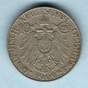 China- Kiau Chau (German Enclave). 1909 10 Cents.. gVF