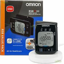 Omron RS8 Automatic Wrist Blood Pressure Monitor with NFC Wireless Charging Pad