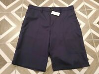 Banana Republic Emerson Shorts Straight Bermuda Size 32 Men's Long Navy Blue NWT