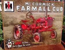 McCormick Farmall IH Tractor Metal Tin Ad Sign Farm Ranch Wall Picture Gift New