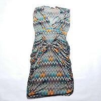 Veronicam  Sleeveless Multi Color Dress Womens Size Large
