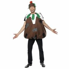 Men S Christmas Pudding Costume Tabard Hat One Size Colour Brown 31312