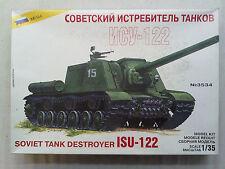 Zvezda 3534 Soviet Tank Destroyer JSU-122 1:35 Neu, nicht eingetütet