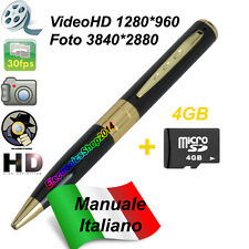 SPY PEN GOLD HD SPY PEN BUG VIDEO CAMERA CAMERA HIDDEN+MICROSD 4GB