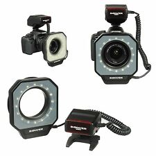 LED Macro Ring Flash Light For Canon Nikon Pentax Olympus DSLR Camera 67mm-77mm
