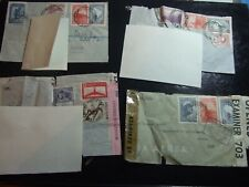 Argentina censored stamps of WW2.