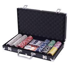 Mallette Poker en Aluminium 300 Jetons Noir Set Poker Laser Jetons de Poker