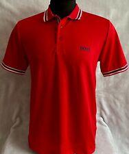 Hugo Boss Polo Men 100% cotton Regular fit color Red