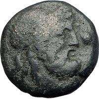 AMPHIPOLIS in MACEDONIA 148BC Rare R2 Ancient Greek Coin POSEIDON CLUB i61561