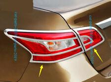 4PCS New ABS Chrome Rear Tail Light Frame Cover Trim for Nissan Sentra 2013-2018