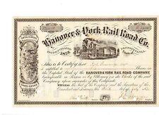 Hanover & York Railroad Company 1875