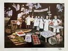 "Rare Blue Dog Artist George Rodrigue's ""Farmers Market"" Signed Print (1984)"
