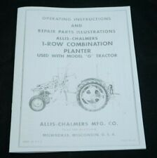 Allis Chalmers G Tractor 1 Row Mounted Planter Owners Amp Parts Manual Ac Disk