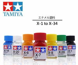 Tamiya Color Enamel Paint Gloss 80001-80028 X-1 to X-34 (10ml) multiple choice