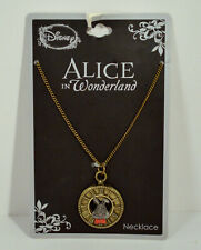 NEW Disney White Rabbit Figure Clock Necklace Chain Jewelry Alice In Wonderland