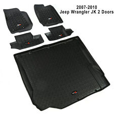 2007-2010 Jeep JK Wrangler 2 Doors Floor Liner 5 Piece Kit Rugged Ridge 12988.02