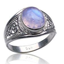 Elegant 925 Sterling Silver MOONSTONE ONYX TURQUOISE Gemstone Ring Gift Boxed