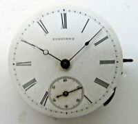 15 Ligne Longines Hunting Case Pocket Watch Movement with Dial & Hands